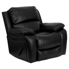 Black LeatherSoft Rocker Recliner