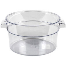 2 Quart Round Food Storage Container in Clear Polycarbonate