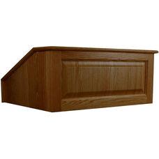 Solid Hardwood Victoria Non-Sound Tabletop Lectern - Walnut Finish - 27