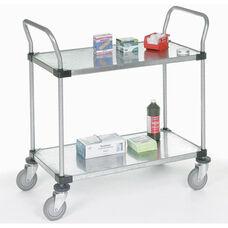 Galvanized 2 Shelf Solid Shelf Cart - 18