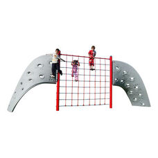 Weather and Fade Resistant Polyethylene Aztec and Rope Play Climber with Nylon Climbing Nets - 264