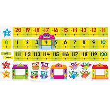 Trend Enterprises Owl-Stars Coll. -20 To 120 Board Number Line