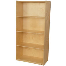 Wooden Multi-Purpose Bookcase with 4 Fixed Shelves - 36