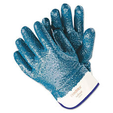 Memphis™ Predator Premium Nitrile-Coated Gloves - Blue/White - Large - 12 Pairs