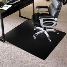 TrendSetter 36''W x 48''D Low Pile Rectangular Anchorbar Chairmat - Black