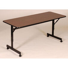 Adjustable Height Rectangular EconoLine Melamine Flip Top Table - 24