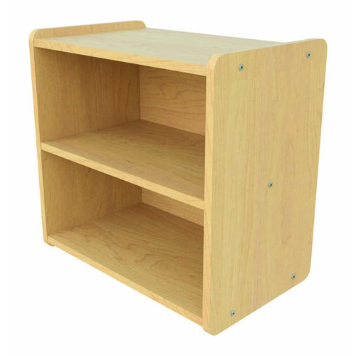 Our Toddler Size Straight Shelf Maple Storage Unit - Assembled is on sale now.
