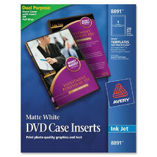 Avery Inkjet Printer Matte Dvd Case Inserts - Pack Of 20