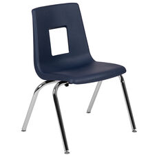Advantage Navy Student Stack School Chair - 16-inch