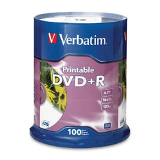 Verbatim White Inkjet Printable Dvd+R - Pack Of 100