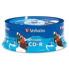 Verbatim Write-Once Inkjet Printable Cd-R Discs - Pack Of 25