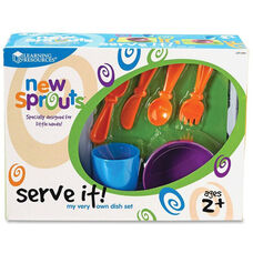Learning Resources New Sprouts - Serve it! My Very Own Dish Set - Set of 24 Pieces