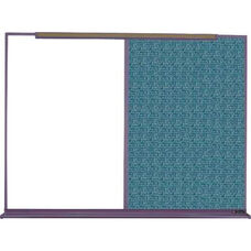 800 Series Aluminum Frame Combination Markerboard and Tackboard - Designer Fabric - 120