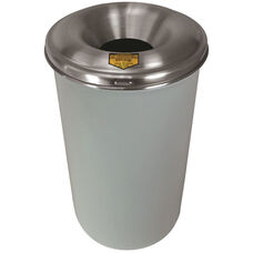 Cease-Fire® Safety Drum 55 Gallon Waste Receptacle with Aluminum Head - White