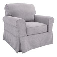 Ave Six Ashton Chair with Slip Cover - Fog