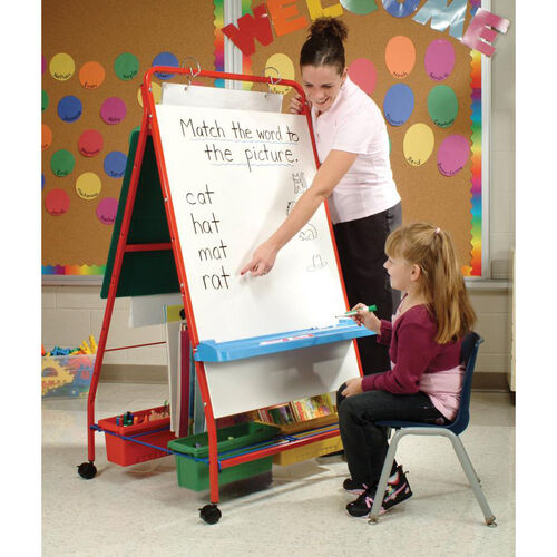 Our Primary Teaching Easel with Storage and Dry Erase and Felt Board Sides is on sale now.