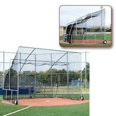 Galvanized Steel Frame Portable Batting Cage with Wheels