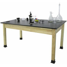 Rectangle Shaped Chemical Resistant Science Table with Solid Phenolic Resin Top - 24