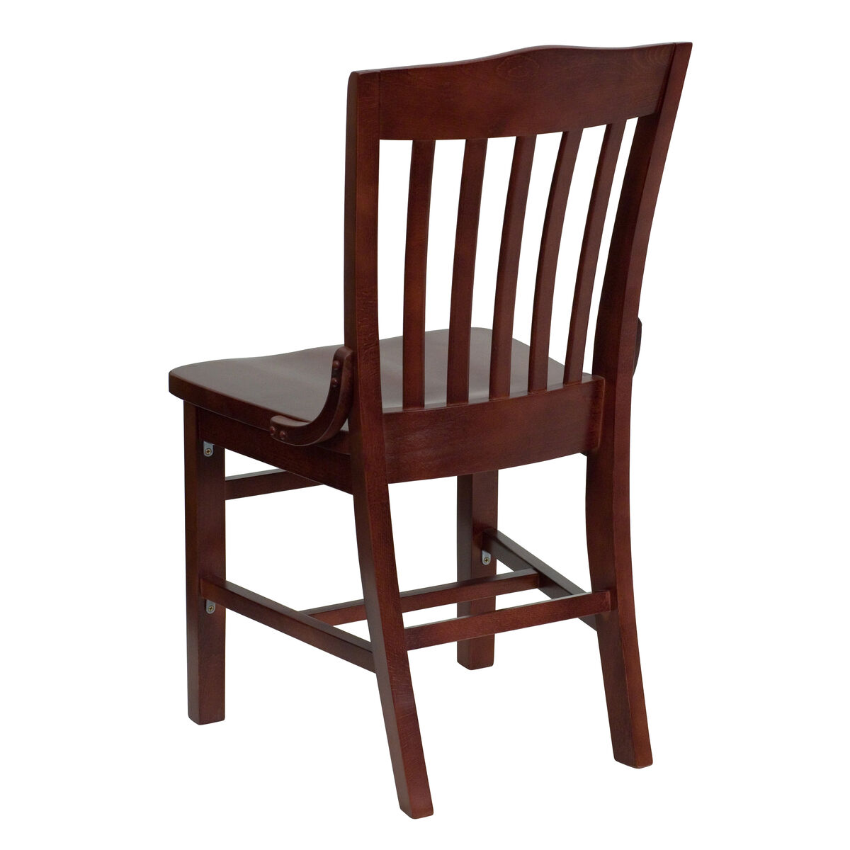 Mahogany wood dining chair bfdh 7992mbk tdr for Furniture 4 schools