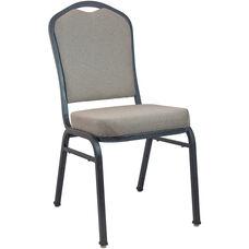 Advantage Premium Tan Speckle Crown Back Banquet Chair