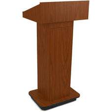 Executive Non-Sound Column Lectern - Mahogany Finish - 22