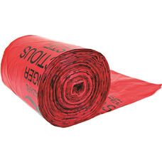100 Liner Bags for Biohazard Waste Cans - Red