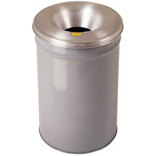 Cease-Fire® Safety Drum 30 Gallon Waste Receptacle with Aluminum Head - Gray