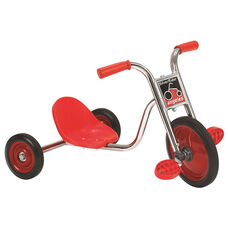 Silver Rider Super Cycle with Spokeless Solid Rubber Wheels - Red