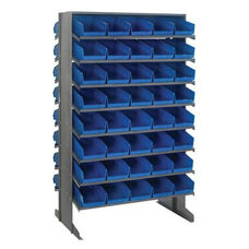 Sloped Shelving Double Sided Pick Rack Unit with 80 Bins - Blue