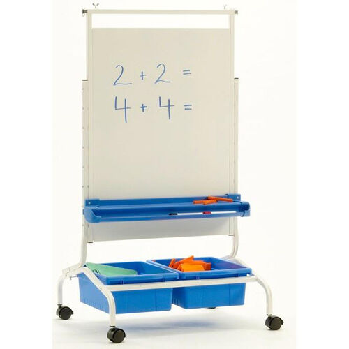 Our Deluxe Chart Stand Combo with Magnetic Dry Erase Board and Storage Tubs is on sale now.