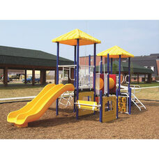 Galvanized Steel Tube Constructed Miss Megan Value Series Play Center with Thermoplastic Coated Punch Steel Decks - 204