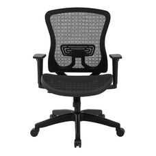 Space Seating CHX Dark Breathable Mesh Seat and Back Managers Office Chair - Black