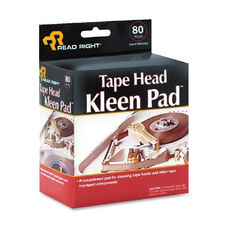 Read/Right Tape Head Cleaning Pads - Pack Of 80