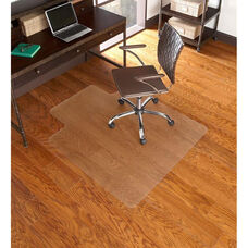 EverLife 46''W x 60''D Hard Floor Foldable Straight Edge Chairmat with 25''W x 12''D Lip