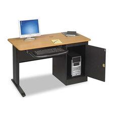 BALT® LX48 Computer Security Workstation - 48w x 24d x 28-3/4h - Teak/Black