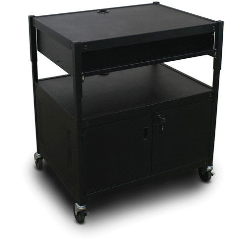 Our Spartan Series Adjustable Media Projector Cart and Cabinet with One Pull-Out Front-Shelf - Black is on sale now.