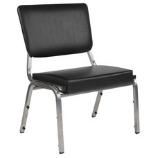 HERCULES Series 1500 lb. Rated Black Antimicrobial Vinyl Bariatric Medical Reception Chair with 3/4 Panel Back
