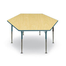 Hexagon Shaped Particleboard Juvenile Activity Table - 48''Dia