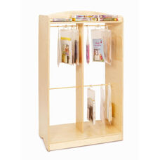 Hanging Bag Audio Storage Unit with Resealable Hangers