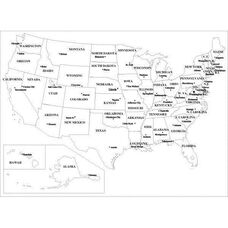 Specialty Markerboards with Permanently Fused USA Map and Aluminum Frame - 48