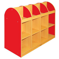 Color Essentials Two Sided Standard Laminate Book Stand with Red Side Panels