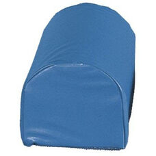 Anti Slip Half Round Wedge Positioning Bolsters - Medium Blue Vinyl