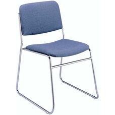 300 Series Stacking Steel Frame Armless Guest Chair with Sled Base and 1.5