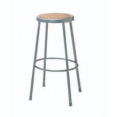 Steel Adjustable Hardboard Seat Stool - 23-33