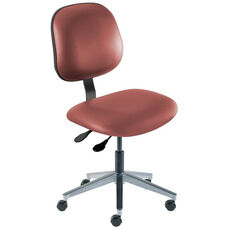 Quick Ship Belize Series Chair with Concave Seat and Wide Aluminum Base - Low Seat Height