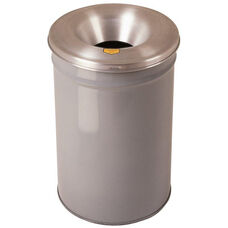 Cease-Fire® Safety Drum 15 Gallon Waste Receptacle with Aluminum Head - Gray