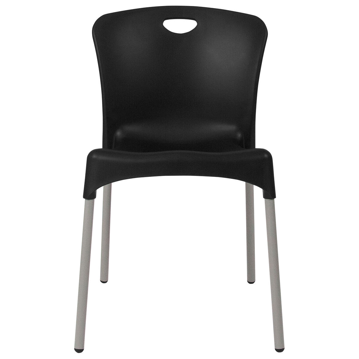 Black plastic stack chair dad ycd 42 ch gg for Furniture 4 schools