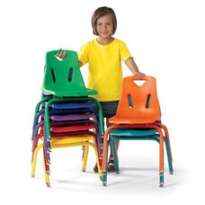 BERRIES® Plastic Chair with Powder Coated Legs