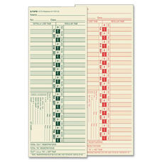 Tops Bi-Weekly Time Clock Cards - Pack Of 500