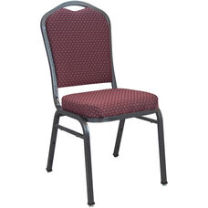 Advantage Premium Burgundy-patterned Crown Back Banquet Chair - Silver Vein